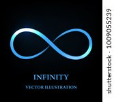 abstract glowing infinity symbol | Shutterstock .eps vector #1009055239
