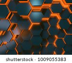 orange and blue scifi... | Shutterstock . vector #1009055383
