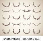 collection of vintage laurel... | Shutterstock .eps vector #1009059163