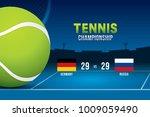 vector of tennis championship...   Shutterstock .eps vector #1009059490