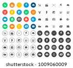 camera icons set | Shutterstock .eps vector #1009060009