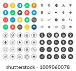 navigation icons set | Shutterstock .eps vector #1009060078