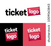 ticket or coupon logo and icon  ... | Shutterstock .eps vector #1009063843