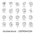 set of 20 line icons for online ... | Shutterstock .eps vector #1009064104