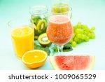 preparing homemade tropical... | Shutterstock . vector #1009065529