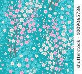 blossom cherry seamless pattern.... | Shutterstock .eps vector #1009065736