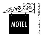 raster illustration motel... | Shutterstock . vector #1009066468