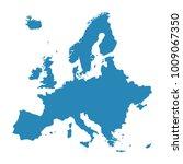 raster illustration europe map... | Shutterstock . vector #1009067350
