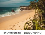 indian ocean coast with stones... | Shutterstock . vector #1009070440