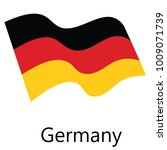 raster illustration waving flag ...   Shutterstock . vector #1009071739