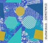trendy geometric flat pattern... | Shutterstock .eps vector #1009074913