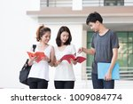 young asian student discussion... | Shutterstock . vector #1009084774