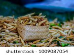Small photo of Bamboo worm,Bamboo worm or omphisa fuscidentalis,local foods in thailand.
