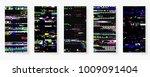 glitch backgrounds set. mobile...   Shutterstock .eps vector #1009091404