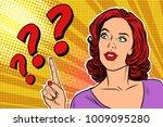 Question Mark Pop Art Woman...