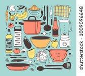 hand drawn illustration set of... | Shutterstock .eps vector #1009096648