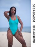beautiful curvy female ebony... | Shutterstock . vector #1009096960