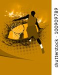 basketball jump background with ... | Shutterstock . vector #100909789