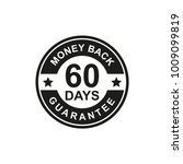 60 days money back guarantee... | Shutterstock .eps vector #1009099819