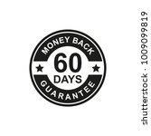 60 days money back guarantee... | Shutterstock .eps vector #1009099819