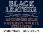 vintage font typeface... | Shutterstock .eps vector #1009101676