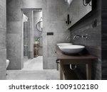 bathroom interior design | Shutterstock . vector #1009102180