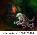illustration of two fantasy... | Shutterstock . vector #1009103404