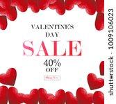 valentine's day sale background ... | Shutterstock .eps vector #1009106023