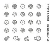 gear icons  thin vector icon... | Shutterstock .eps vector #1009111633