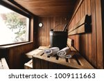 location of a mountain wood... | Shutterstock . vector #1009111663
