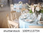 wedding. banquet. the chairs... | Shutterstock . vector #1009113754