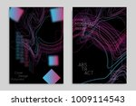 abstract banner template with... | Shutterstock .eps vector #1009114543