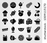 food and drinks vector icon set....   Shutterstock .eps vector #1009115170