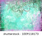 Mandalas On A Teal Green And...