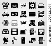 technology vector icon set.... | Shutterstock .eps vector #1009121074