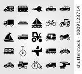 transport vector icon set. tuk... | Shutterstock .eps vector #1009123714