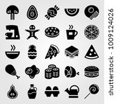 food and drinks vector icon set.... | Shutterstock .eps vector #1009124026