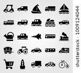 transport vector icon set. car  ...   Shutterstock .eps vector #1009124044