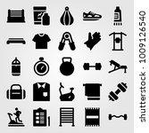 fitness vector icon set.... | Shutterstock .eps vector #1009126540