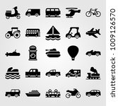 transport vector icon set.... | Shutterstock .eps vector #1009126570