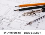 workplace of architect. divider ... | Shutterstock . vector #1009126894