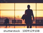 silhouette of the young man at... | Shutterstock . vector #1009129108