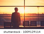 silhouette of the young man at... | Shutterstock . vector #1009129114
