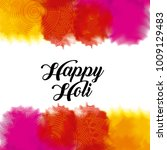 happy holi color gulal powder... | Shutterstock .eps vector #1009129483