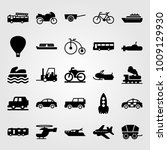 transport vector icon set.... | Shutterstock .eps vector #1009129930