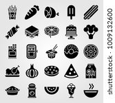 food and drinks vector icon set.... | Shutterstock .eps vector #1009132600