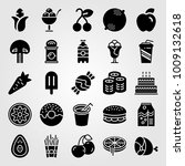 food and drinks vector icon set.... | Shutterstock .eps vector #1009132618
