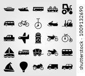 transport vector icon set.... | Shutterstock .eps vector #1009132690