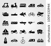 transport vector icon set.... | Shutterstock .eps vector #1009133944