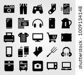 shopping vector icon set. oven  ... | Shutterstock .eps vector #1009134148
